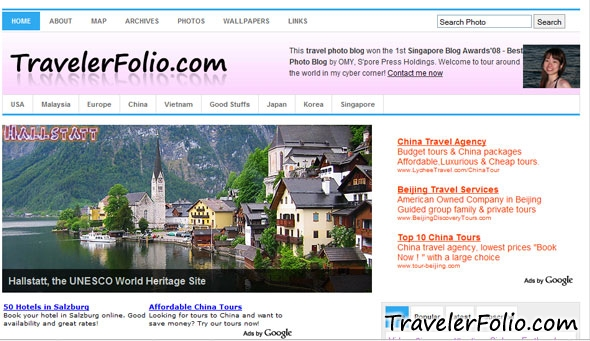 travelerfolio-old-blog-design