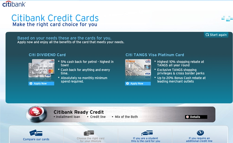 Credit Cards - Citibank Singapore | Compare & Apply @ Travel Blog ...