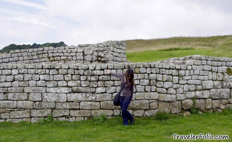 Hadrians Wall (Roman Wall) UNESCO heritage site, England @ Singapore Tr...