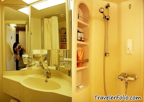 Cruise ship bathroom