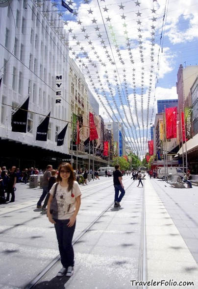 Shopping Street Melbourne