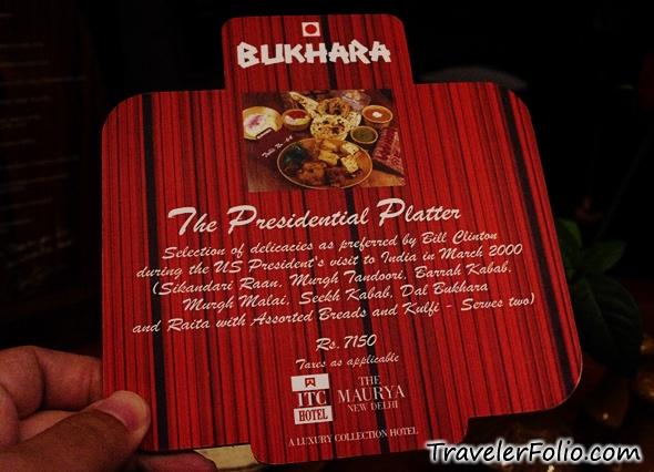 Bukhara itc maurya coupons