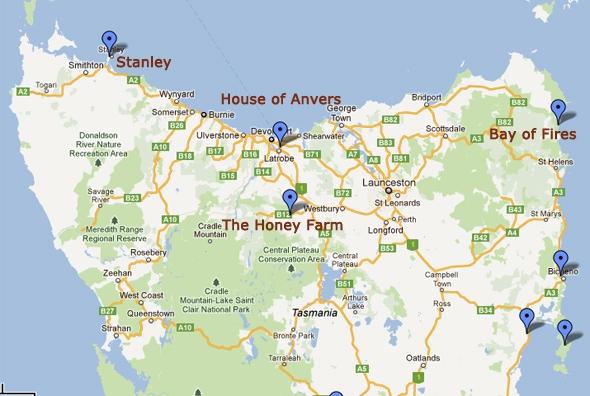 Tasmania Self Drive Itinerary East Coast Northwest