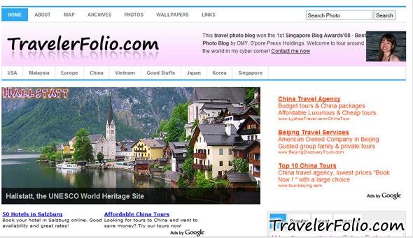 travelerfolio-old-blog-design