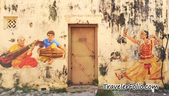 Indian Dance Wall Painting Ipoh Malaysia
