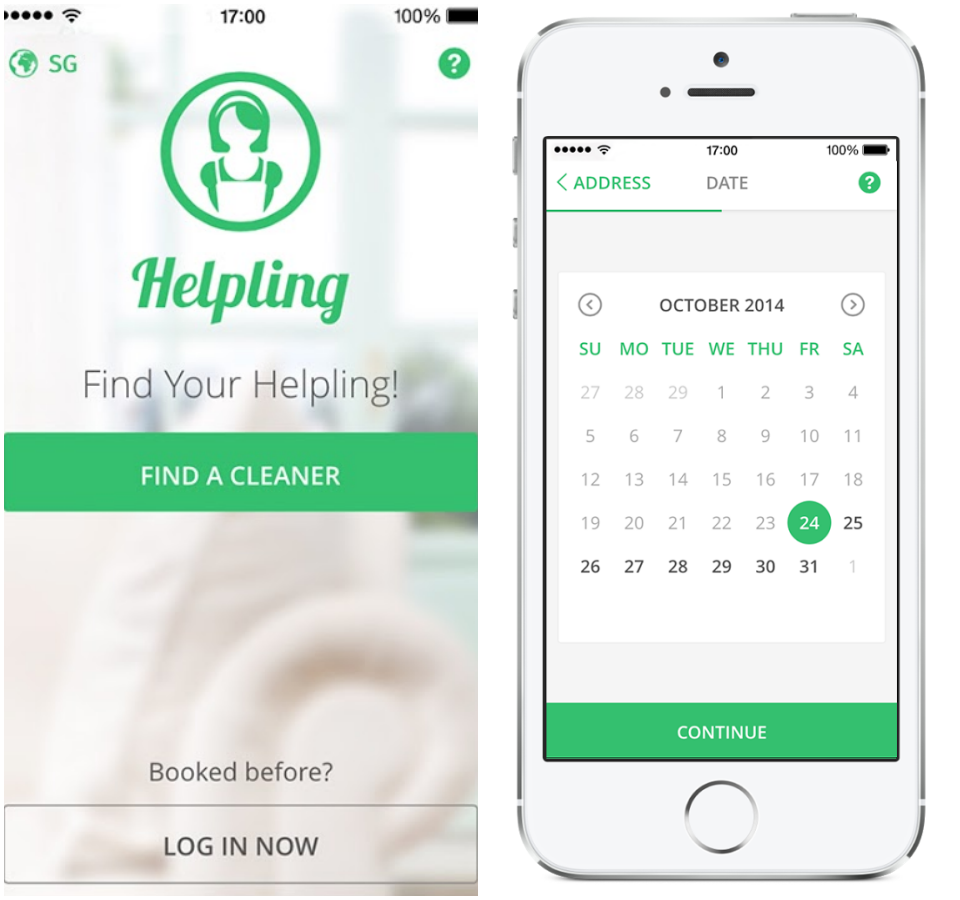 helpling-app-screenshots
