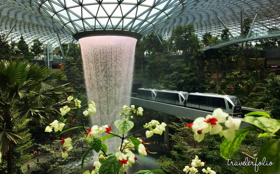 jewel changi airport skytrain rain vortex