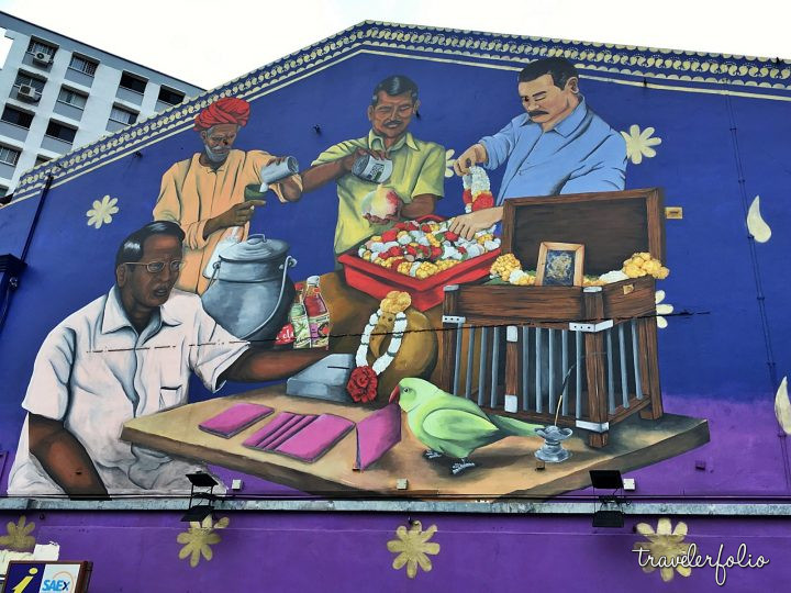 Little India wall mural