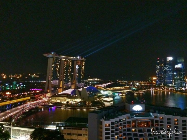 View from Pan Pacific Hotel - Marina Bay Sands