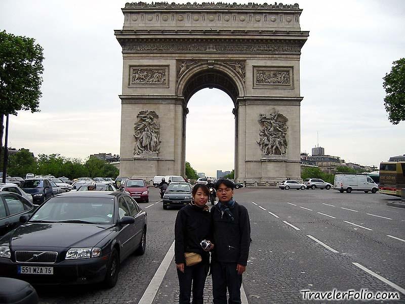 Arc De Triomphe Champs Elys 233 Es Eiffel Tower Photo