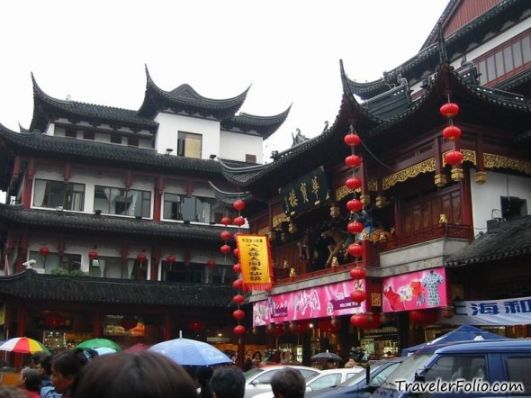 The Oldest City Area In Shanghai Chenghuangmiao ş�隍庙