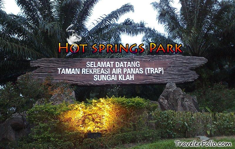 Trap Sungai Klah Hot Springs Recreation Park Sungkai Perak Malaysia Singapore Travel